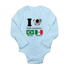 BRAZIL-MEXICO Long Sleeve Infant Bodysuit