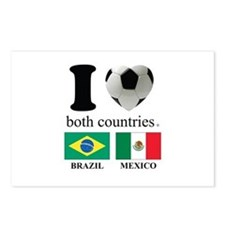 BRAZIL-MEXICO Postcards (Package of 8)