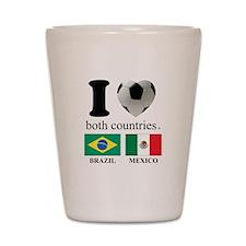 BRAZIL-MEXICO Shot Glass