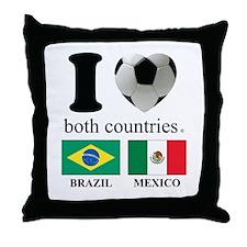 BRAZIL-MEXICO Throw Pillow
