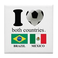 BRAZIL-MEXICO Tile Coaster