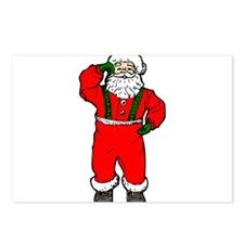 Dancing Santa Postcards (Package of 8)