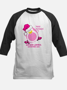 Personalize Pink Dancing Penguin Tee