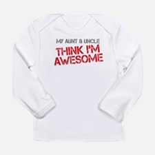 Aunt and Uncle Awesome Long Sleeve Infant T-Shirt