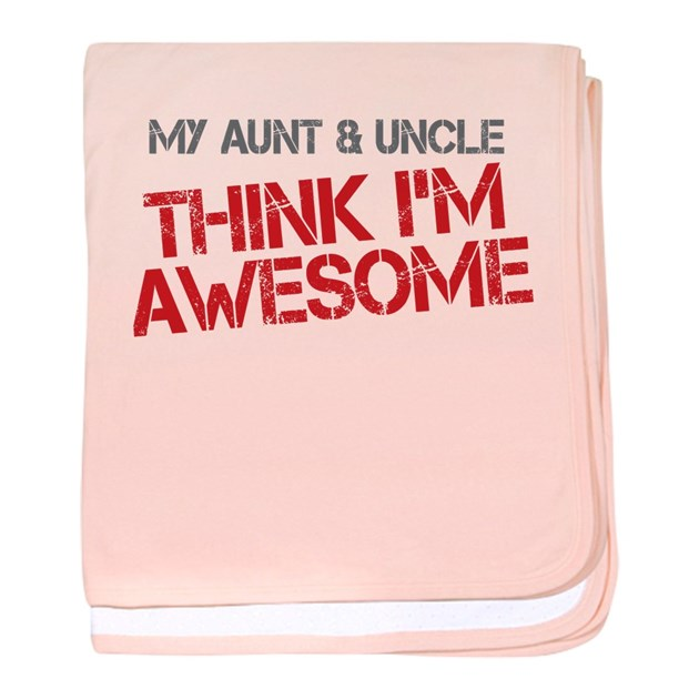 aunt and uncle awesome baby blanket by oddmatterfamily. Black Bedroom Furniture Sets. Home Design Ideas