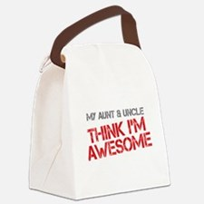 Aunt and Uncle Awesome Canvas Lunch Bag