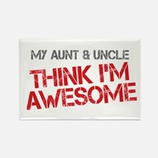 Aunt and Uncle Awesome Rectangle Magnet
