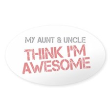 Aunt and Uncle Awesome Decal