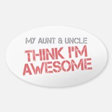 Aunt and Uncle Awesome Sticker (Oval)