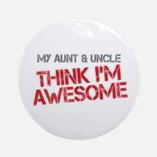 Aunt and Uncle Awesome Ornament (Round)