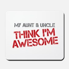 Aunt and Uncle Awesome Mousepad
