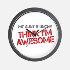 Aunt and Uncle Awesome Wall Clock