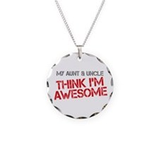 Aunt and Uncle Awesome Necklace Circle Charm