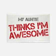 Auntie Awesome Rectangle Magnet