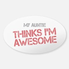 Auntie Awesome Sticker (Oval)