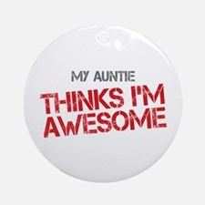 Auntie Awesome Ornament (Round)
