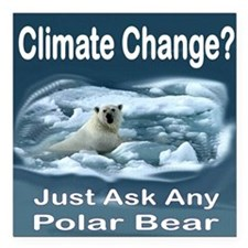 "Climate Change Is Real Square Car Magnet 3"" x 3"""