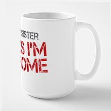 Baby Sister Awesome Large Mug