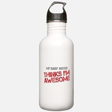 Baby Sister Awesome Water Bottle
