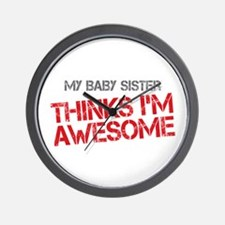 Baby Sister Awesome Wall Clock