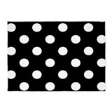 Black and white polka dot 5x7 Rugs