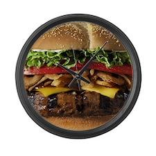 burger Large Wall Clock