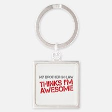 Brother-In-Law Awesome Square Keychain