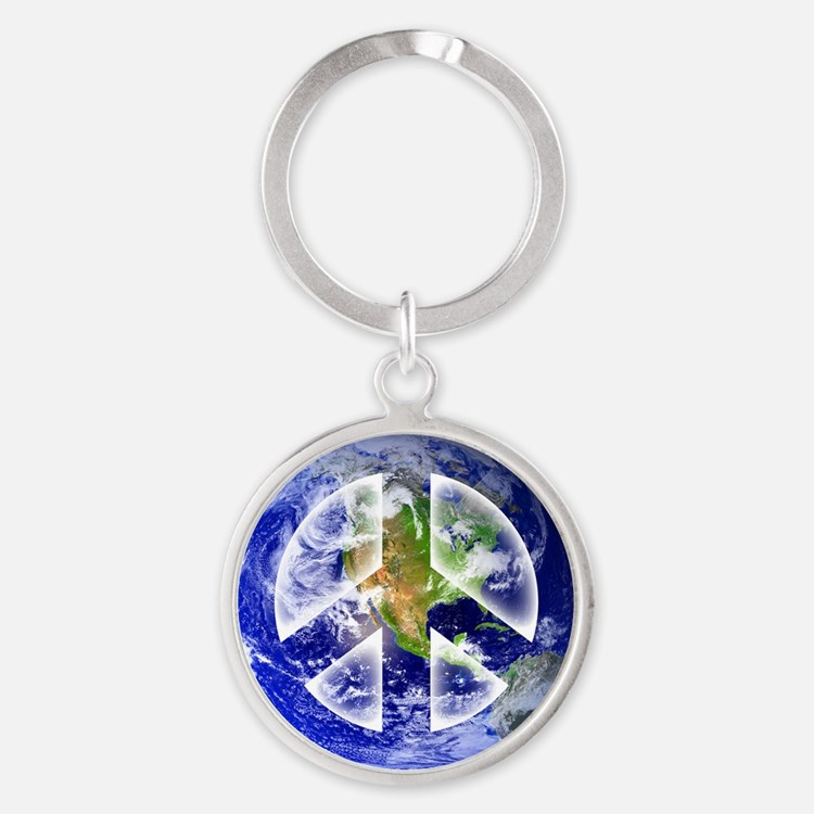 Peace on Earth Round Keychain