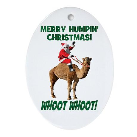 Merry Humpin Christmas Santa Hump Day Camel Orname
