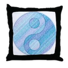 denim yin-yang Throw Pillow