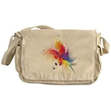 Abstract Feathered Colors Messenger Bag