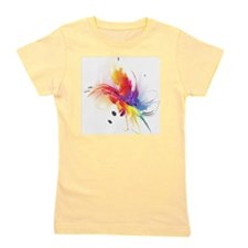 Abstract Feathered Colors Girl's Tee