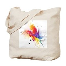 Abstract Feathered Colors Tote Bag