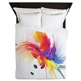 Paint splatter Duvet Covers