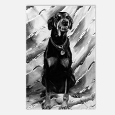 The Smiling Doberman Postcards (Package Of 8)