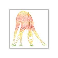 "Filigree Giraffe Square Sticker 3"" x 3"""