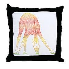 Filigree Giraffe Throw Pillow