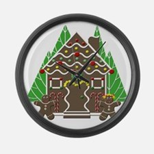 Gingerbread House Large Wall Clock
