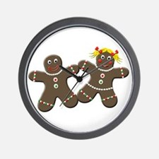 Gingerbread Couple Wall Clock