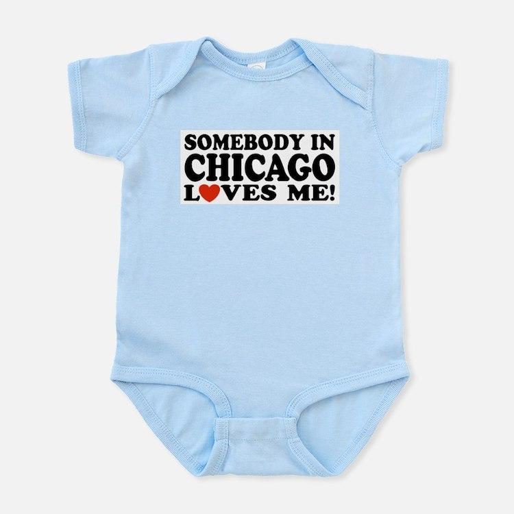 Somebody in Chicago Loves Me Infant Bodysuit