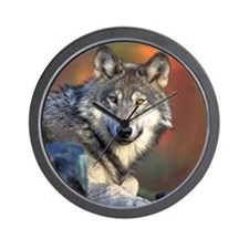 Wolf Wolves Lovers Wall Clock