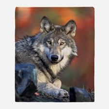 Wolf Wolves Lovers Throw Blanket