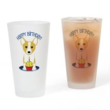 Corgi Birthday Drinking Glass