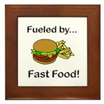 Fueled by Fast Food Framed Tile