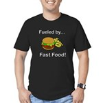 Fueled by Fast Food Men's Fitted T-Shirt (dark)