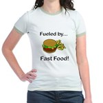 Fueled by Fast Food Jr. Ringer T-Shirt