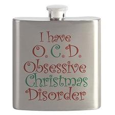 OCD - Obsessive Christmas Disorder Flask