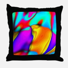 crazy effects 18 Throw Pillow