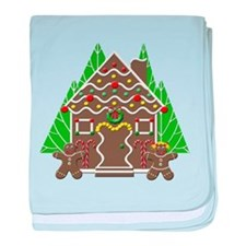 Cute Gingerbread House Christmas Baby Blanket