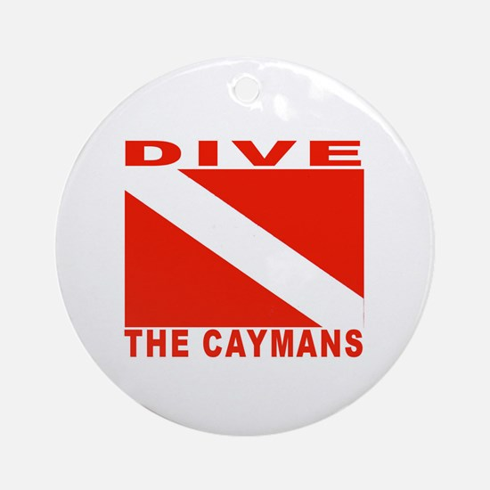 Dive The Caymans Ornament (Round)